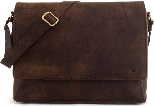 Leabags Oxford Laptoptasche 15 Zoll aus Leder im Vintage Look